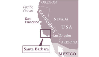 Santa Barbara on the map