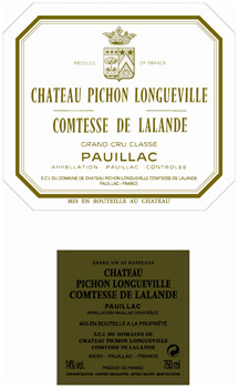 first and second label of Chateau Pichon Comtesse