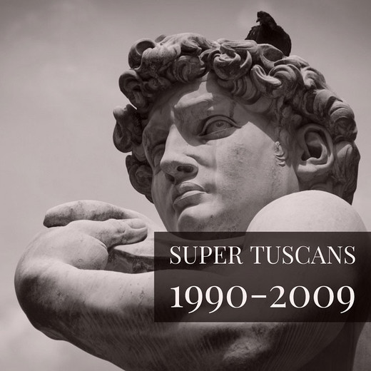 #WINEWEDNESDAYS Super Tuscans 1990-2009 wine tasting