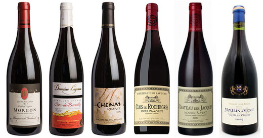 6 of the top 2013 cru Beaujolais reds
