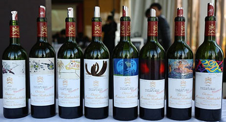 wines tasted in Château Mouton Rothschild Masterclass at Decanter Shanghai Fine Wine Encounter 2015