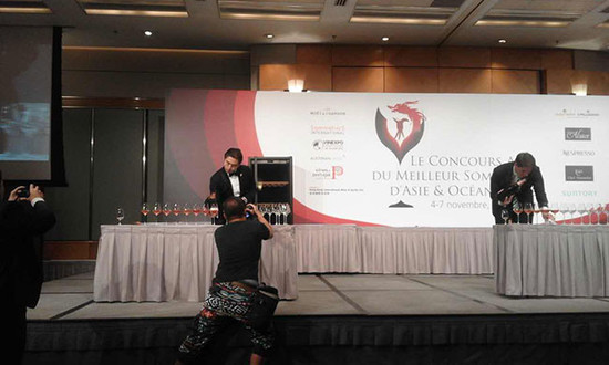 Best Sommelier of Asia-Oceania competition silver medal Wallace Lo
