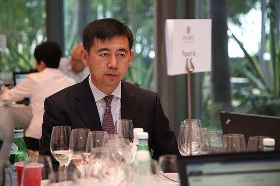Image: LI Demei judging at 2015 Decanter Asia Wine Awards, credit Decanter