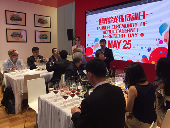 Image: Changyu hosted 'World Cabernet Gernischt Day' during Vinexpo HK. Credit: Decanter