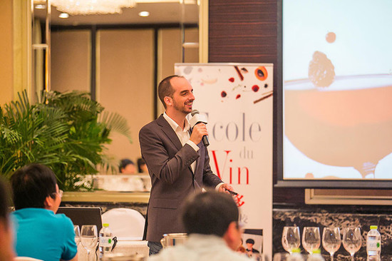 Image: Julien Boulard at wine course