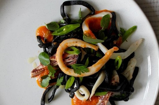 Image: Michel Roux Jr's squid linguine.