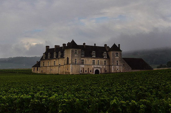 Image: Brooding early October skies over the Clos Vougeot. Credit: Gretchen Greer.