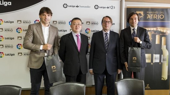 Image: Changyu signing contract with LaLiga to become its official wine partner.