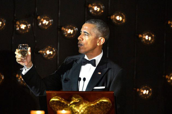 Obama toasts Nordic leaders at a White House State Dinner earlier this year. Credit: Getty