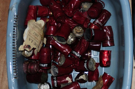 Wine capsules seized by the FBI from Rudy Kurniawan's house. Credit: FBI