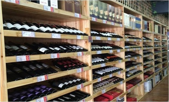 Picture: Shop display of wine retailer 'Jiu Lao Ban' in Shanghai - before. Credit: WBO
