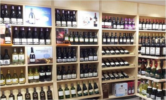 Picture: Shop display of wine retailer 'Jiu Lao Ban' in Shanghai - after. Credit: WBO