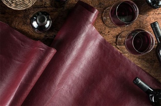 Wine leather: Coming to a fashion boutique near you.	Credit: Vegetal Leather