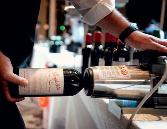 Above: 231 bottles were assessed at Penfolds' recorking clinic in London last year