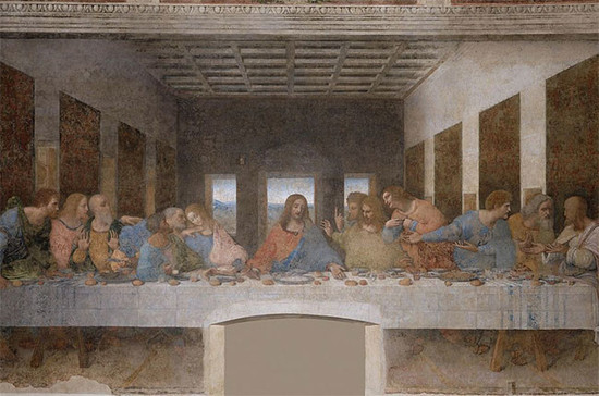 Leonardo da Vinci's painting of the Last Supper, completed between 1495 and 1498. Credit: Leonardo da Vinci / Wiki Commons