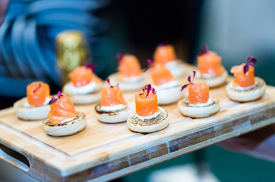 Salmon canapés served at the Decanter Sparkling Exploration. Image Credit: Catherine Lowe – cathlowe.com