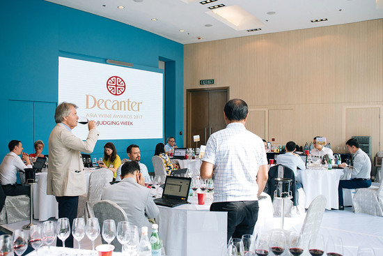 The first wines are served to judges at DAWA 2017. Credit: Decanter