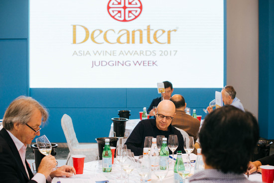 Image: Trophy judging at 2017 Decanter Asia Wine Awards
