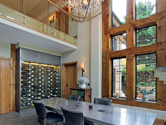 Above: a wine wall storage and display cabinet installed by Cellar Maison