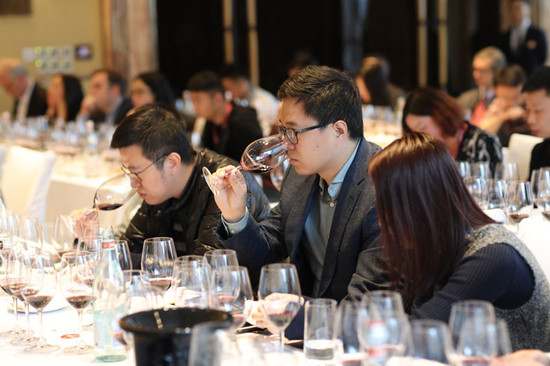 Masterclass guests at the Decanter Shanghai Fine Wine Encounter. Riedel supplied glasses for the tasting.