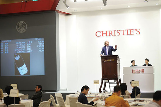 Which wines were driving the bidding at auctions in 2017? Credit: Christie's