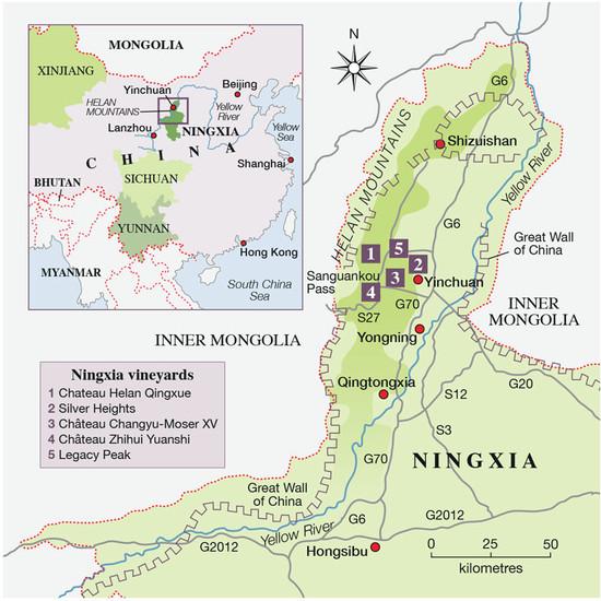 Ningxia China Map.Chinese Pioneers Jane Anson Decanter China 醇鉴中国