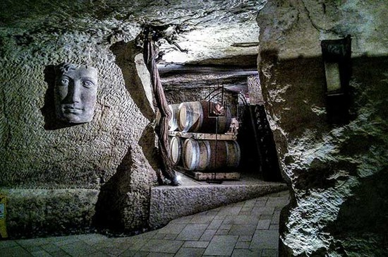 The cellar at Zyme. Credit: Andrew Jefford