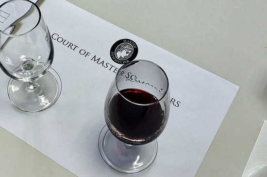The blind tasting exam. Credit: Court of Master Sommeliers