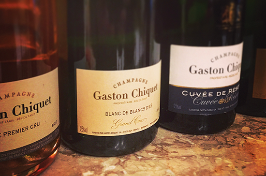 Cuvées produced by grower-producer Gaston Chiquet. Credit: Gaston Chiquet