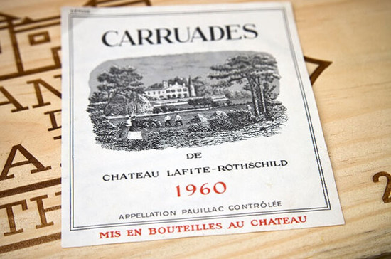 Carruades, the 'second wine' of Lafite Rothschild. Credit: Frank Tschakert / Alamy