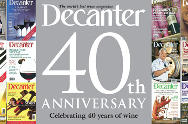 Decanter 40th anniversary: the story of Decanter