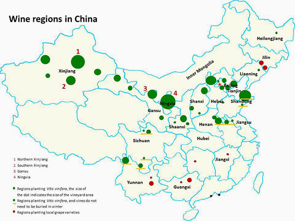 Chinese Wine Regions Decanter China 醇鉴中国 - Us wine regions map