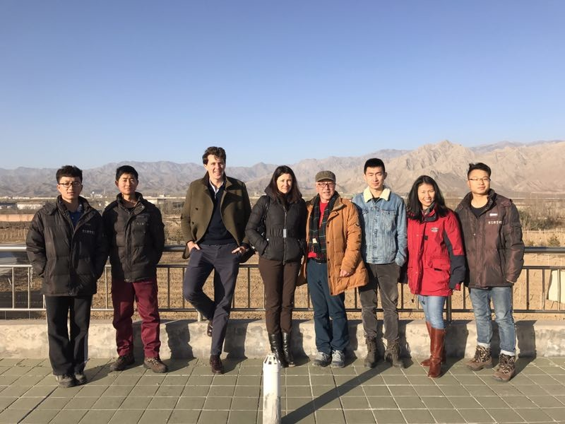 Image: Decanter team at Helan Qingxue Vineyards