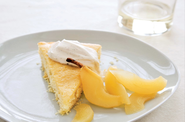 Buttermilk Cake with Riesling-Poached Pears – recipe