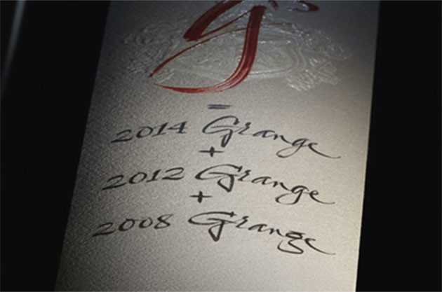 Penfolds g3 combines three Grange vintages. Credit: Penfolds