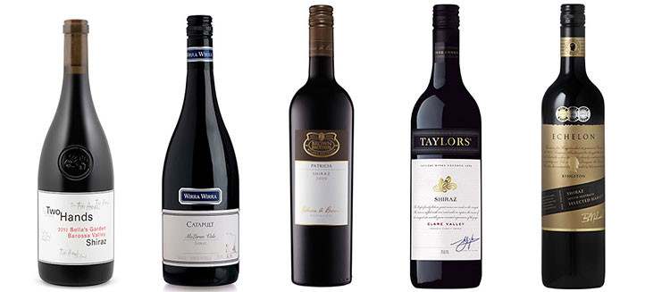 5 Award-winning Australian Shiraz from 5 renowned regions