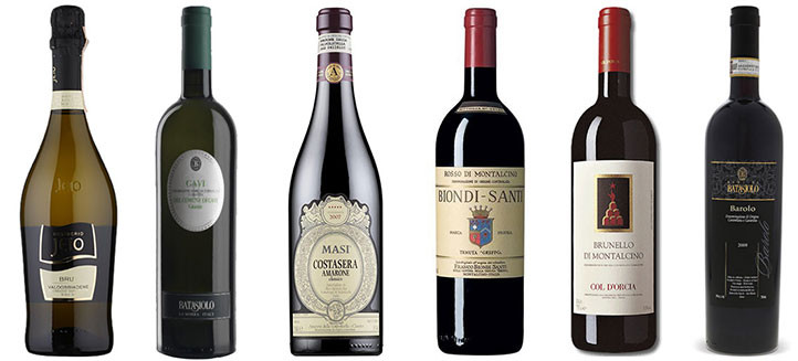6 Award winning Italian wines