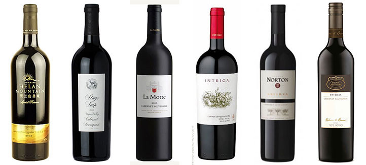 6 New World Cabernet Sauvignon