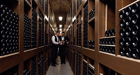 The allure of a good wine cellar