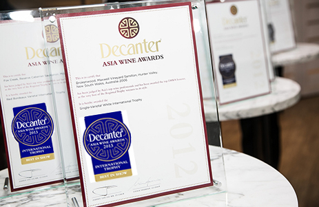 2013 Decanter Asia Wine Awards : International Trophy winners revealed