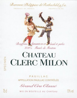 Château Clerc Milon wine label