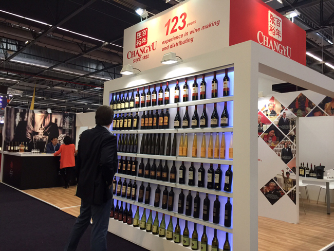 the Changyu stand at Vinexpo 2015