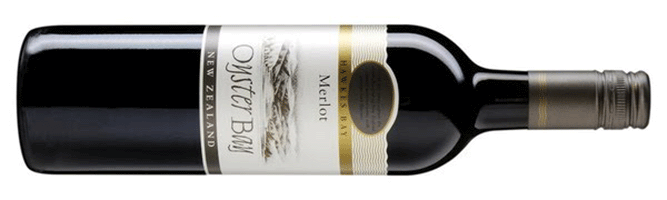 Oyster Bay Merlot, Hawke's Bay, New Zealand 2017